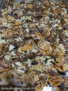 This is my version of Christmas Crack, a sinful snack I found last week at Simple Fare, Fairly Simple. I've added some ingredients, because why not throw in the kitchen sink as well? This stuff i...