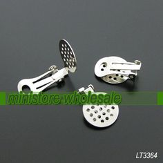 20pcs Nickle Color Ear Clip with 15mm Net Pad   by ministore, $3.95