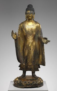 Buddha Maitreya (Mile), Northern Wei dynasty (386–534), dated 486  China  Gilt bronze with traces of pigment, piece-mold cast