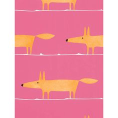 BuyScion Mr Fox Paste the Wall Wallpaper, 110843 Online at johnlewis.com