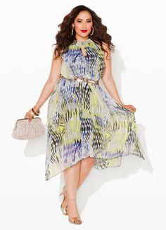 26f86d20b044a Ashley Stewart Keyhole Maxi Dress Big Girl Fashion