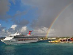 Those leprechauns have no idea what's waiting for them. #Carnival.  I am remembering our double rainbows that greeted us as we walked out on our balcony on the Carnival Liberty as we docked in St Lucia.