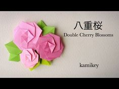 折り紙*八重桜 Origami Double Cherry Blossoms - YouTube