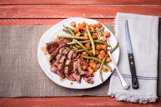 Roasting is our favorite way to prepare butternut squash and trust us – it's delicious! Served with seared steak and green beans almondine, you've got a healthy twist on classic sides packed with flavor.