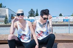 """dappertomboy: """"""""Madison Paige & Terra Juana for Dexter Simmons """" """" Androgynous Fashion, Tomboy Fashion, Queer Hair, Madison Paige, Butches, Lgbt, Dexter, Guys, Tom Boy"""