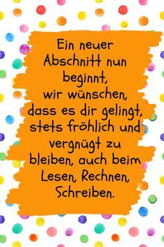 Mehr Sprüche zur Einschulung findest du auf www.hallo-eltern.de #einschulung #sprüche