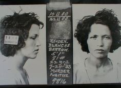 Blanche Barrow, committed robbery and murder along side Buck Barrow, Bonnie Parker, and Clyde Barrow. Bonnie Parker, Bonnie Clyde, Old Pictures, Old Photos, Vintage Photos, Weird Pictures, Vintage Photographs, Celebrity Mugshots, Celebrity Deaths