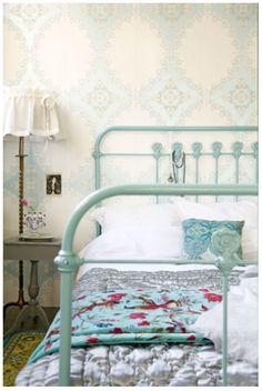 blue bedframe