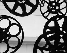 Film Reels in Black and White - Any Size Photograph