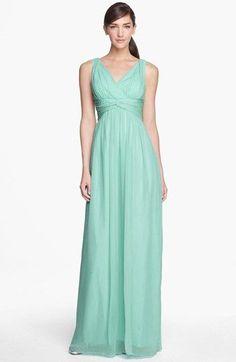 Donna Morgan 'Julie' Twist-Waist Silk Chiffon Gown (Regular & Plus) available at #Nordstrom