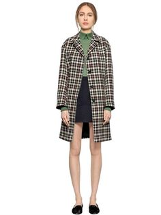 LARUSMIANI CHECKED WOOL COAT, MULTICOLOR. #larusmiani #cloth #coats