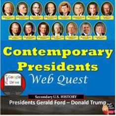Contemporary Presidents WebQuest Print and Digital High School History, Us History, Teaching Strategies, Teaching Resources, Teaching Ideas, Teaching Secondary, Classroom Tools, Teaching History, Creative Teaching