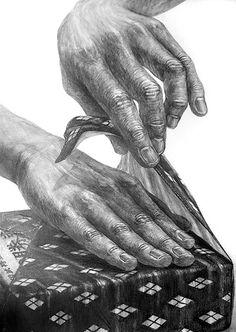 csomagoló kezek...