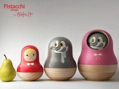 Petit chaperon rouge version poupées russes : J'ADORE ^^