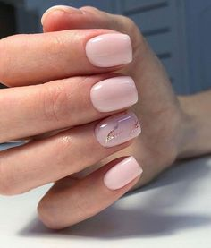 48 cute and lively pink solid color bride nails suitable for any place - page 31 of 48 - hertsy wedding Cute Nails, Pretty Nails, My Nails, Wedding Nails For Bride, Bride Nails, Mauve Wedding, Short Nail Designs, Cute Nail Designs, Solid Color Nails