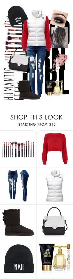 """""""Untitled #7"""" by betsy-mercer ❤ liked on Polyvore featuring M.O.T.D Cosmetics, River Island, The North Face, UGG, Lanvin, ASAP, Mudd and Juicy Couture"""