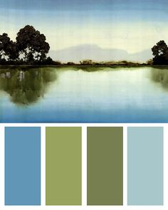 Lakeside Color Palette (Azure Lake art print by Robert Charon)