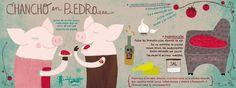 En el Día de la Cocina Chilena, PLOP! Galería te invita a descubrir las nuevas recetas ilustradas creadas por Pati Aguilera (festivaldelaji.blogspot.com).
