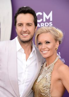 Luke Bryan, Host Luke Bryan and Caroline Boyer attend the 48th Annual Academy of Country Music Awards at the MGM Grand Garden Arena on April 7, 2013 in Las Vegas, Nevada. (Photo by Frazer Harrison/ACMA2013/Getty Images for ACM), 2013 Red Carpet
