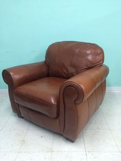 Roasted Chestnut Leather Chair