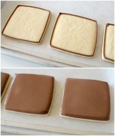 *Chocolate* royal icing for decorating cookies.