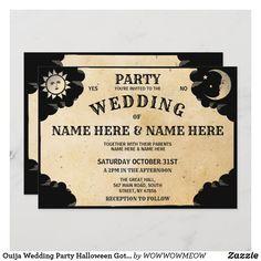 Ouija Wedding Party Halloween Gothic Invite Corpse Bride Wedding, Witch Wedding, Skull Wedding, Gothic Wedding Ideas, Pirate Wedding, Wedding Inspiration, Elegant Wedding, Halloween Wedding Invitations, Affordable Wedding Invitations