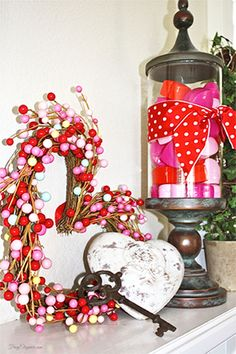 Simple & Easy Valentine's Home Decor by FrugElegance