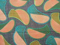 Discs African wax print batik fabric BY THE YARD by ChilliPeppa, £5.00