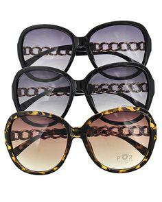 Black & Brown Acrlyic / Gold Tone Metal / 1 Dz Packed Item / Leopard Print / Classic Fashion Sunglasses / Uv400