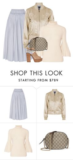 """""""Untitled #2844"""" by erinforde ❤ liked on Polyvore featuring Brock Collection, Topshop, The Row, Gucci and Rebecca Minkoff"""