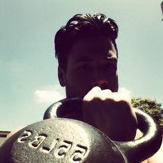 Mondays are tough.    But I'm tougher.    #kettlebell #fitness #exercise #justdoit