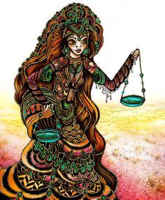 Astrology Illustration Series-Libra