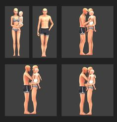 Home Pose Pack - 1 single pose - 1 couple pose (adult/toddler) - 3 Trio poses So this pack I made on a whim after watching Machine Gun Kelly's new music video Home. If you've seen it then you might...