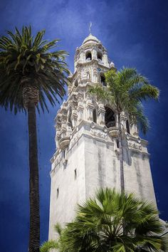 California Tower Balboa Park by Joan Carroll    It's not a church; this California Building is one of the original buildings from the 1915 Panama-California Exposition in Balboa Park in San Diego CA.