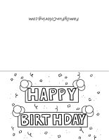 free printable birthday cards - Free Printable Birthday Cards For Kids To Color