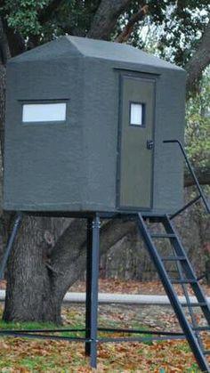 Texas Deer Stands: 4x6 side entry fiberglass blind | Hunting