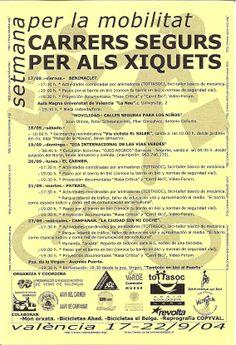 SMS 200509. València Carrers segurs per las xiquets