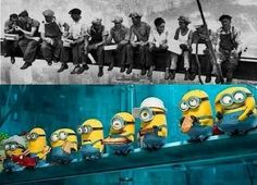 Minion workers - Geek - Millions of Minions Minion Photos, Yellow Guy, Minions Love, Iron Work, Geronimo, Manga Illustration, Despicable Me, Marvel Movies, Make You Smile