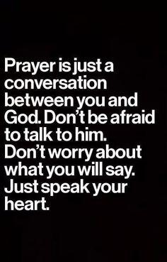 Just speak your heart.