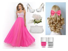 """""""Prom #3"""" by sanchez-ashley ❤ liked on Polyvore featuring Blush Prom, ALDO, Nails Inc., Accessorize, Monsoon and H&M"""