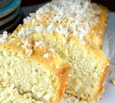 Old Fashion Coconut Buttermilk Cake.Incredibly Tender, Moist and Delicious! It's Topped with a Unique Buttermilk Coconut Glaze That Makes The Cake Super Special! This Is Really Easy To Put Together and is The Perfect Cake Peach Pound Cakes, Coconut Pound Cakes, Buttermilk Pound Cake, Lemon Cakes, Sweet Recipes, Cake Recipes, Dessert Recipes, Coco Moda, Coconut Recipes