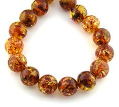 16 24pcs 18mm Honey Culture Amber Round by FancyGemsandFindings, $26.00