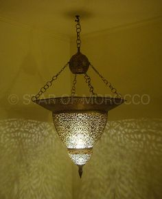Moroccan Brass Chandeliers and lanterns
