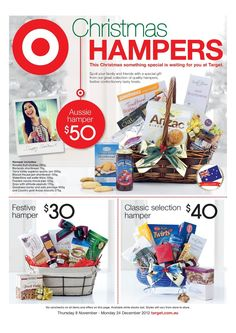 Browse Catalogue for deals on on Lasoo and never miss a shopping Sale! Christmas Ideas, Xmas, Christmas Hamper, Spoil Yourself, Gift Hampers, Banner Design, Yummy Treats, Catalog, Target