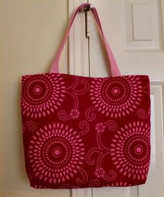 Nice tutorial on how to make a tote bag from upholstery squares