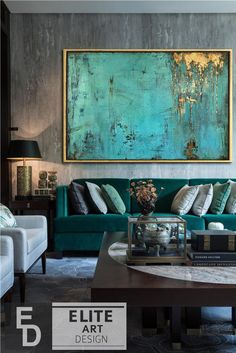 Large Canvas Wall Art Large Oil Painting Extra Large Painting Blue Painting Oversized Art Extra Large Wall Art Gold Leaf Abstract Painting - My CMS Blue Painting, Painting Edges, Large Painting, Acrylic Painting Canvas, Abstract Canvas, Painting Frames, Painting Abstract, Painting Clouds, Abstract Portrait