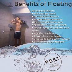 Benefits of floating.. rest float spa