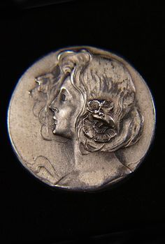 Vintage Art Deco Sterling Silver Button