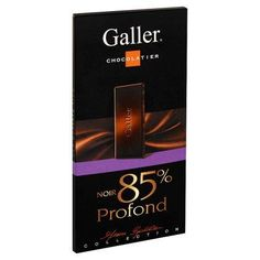 Galler tablette de Chocolat Noir profond 85% 80gr www.chockies.net