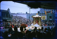 Ohio State Float - 1955 Tournament of Roses Parade